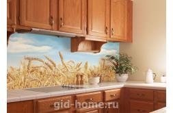 кухонный фартук из пластика Пшеница в интерьре
