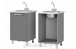 Шкаф-стол под мойку 5М1 Айсберри ШхВхГ600x820x500