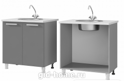 Шкаф - стол под мойку 8М1 800x820x500 Люкс Лазурь