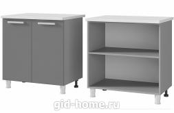 Шкаф - стол рабочий 2-дверный 8Р1  Титан  800x820x500