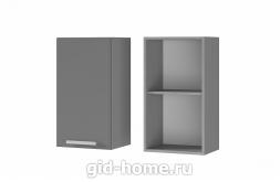 Шкаф настенный 1-дверный 4В1 400x720x310 Люкс Лазурь