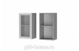 Шкаф настенный  1-дверный со стеклом 4В2 400x720x310 персик