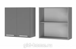 Шкаф настенный  2-дверный 7В1 700x720x310 персик