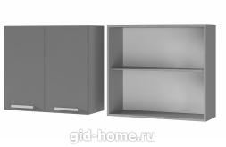 Шкаф настенный 2-дверный 8В1 Титан 800x720x310