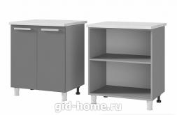Шкаф стол 2-дверный 7Р1 700x820x500 персик
