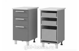 Шкаф стол с 3 - мя ящиками 4Р3 400x820x500 персик