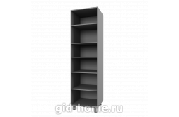 Шкаф закрытый 6П3  Бьянка ШхВхГ600x2140x566 схема