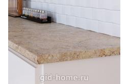 Столешница Кедр для кухни ДСП 3024 S Мрамор золотой фото