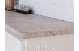 Столешница Кедр для кухни ДСП 3031 Q Мрамор серый фото