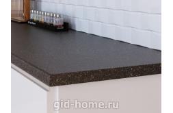 Столешница Кедр для кухни ДСП 4060 S Черное серебро фото