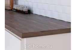Столешница Кедр для кухни ДСП 7030 FL Черная сосна премьер фото