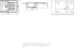Мойка для кухни Таис 760 схема