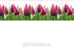 Кухонный фартук из ABS пластика Тюльпаны