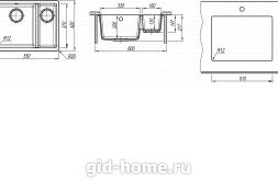 Мойка для кухни Вега 335/160 схема