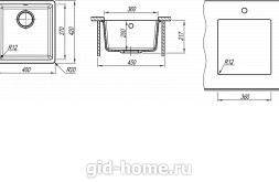 Мойка для кухни Вега 360 схема