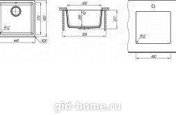 Мойка для кухни Вега 400 схема