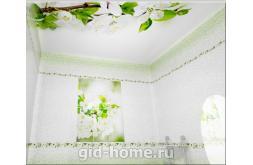 Пластиковые панели для потолка с 3D рисунком