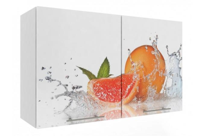 шкаф 1000  фотопечать кухня премьера Апельсин