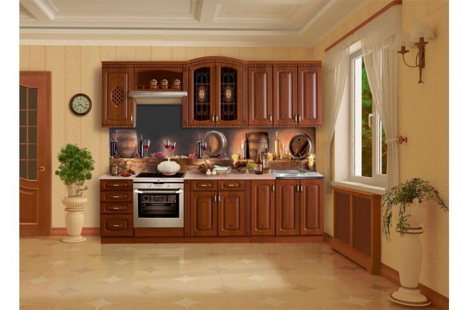 Кухонный фартук из ABS пластика Вино в интерьере