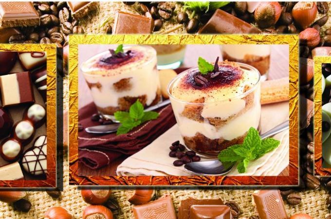Фартук для кухни из МДФ Шоколадная сказка   695х2070х4мм