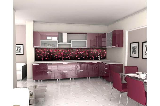 Кухонный фартук из ABS пластика Висячие сады в интерьере 2