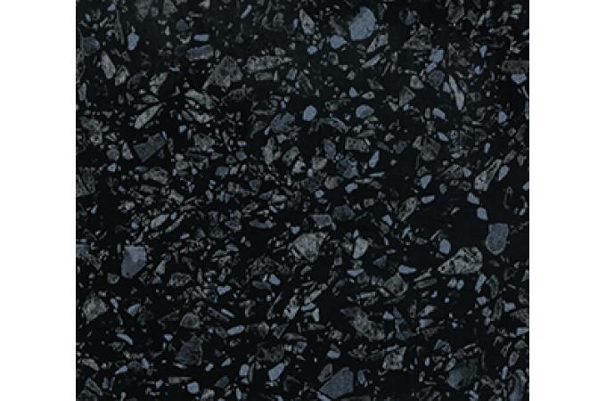 Глянцевая столешница для кухни 4060 Е Черное Серебро