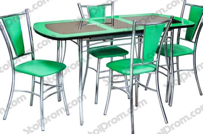 Обеденная группа стол и стулья  № 17