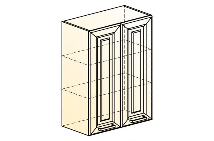 Палермо Шкаф навесной L 600 H 804 (2 дв. гл.)