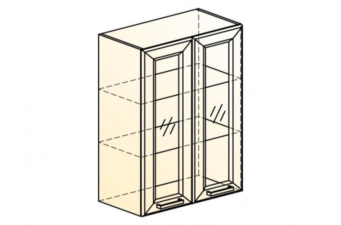 Палермо Шкаф навесной L 600 H 804 (2 дв. рам.)