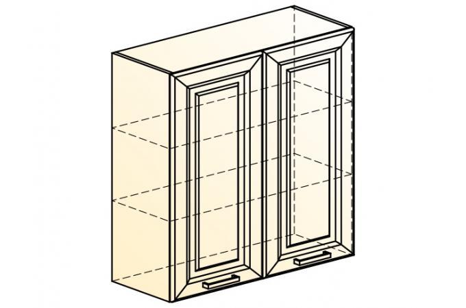 Палермо Шкаф навесной L 800 H 804 (2 дв. гл.)