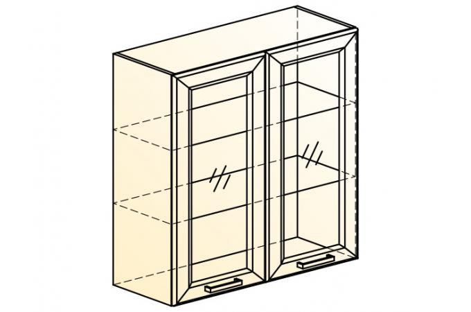 Палермо Шкаф навесной L 800 H 804 (2 дв. рам.)