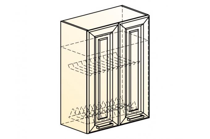 Палермо Шкаф навесной под сушку L 600 H 804 (2 дв. гл.)