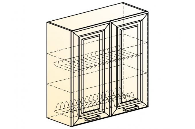 Палермо Шкаф навесной под сушку L 800 H 804 (2 дв. гл.)