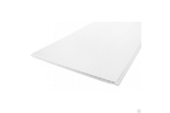 Панель ПВХ белая глянцевая для потолка