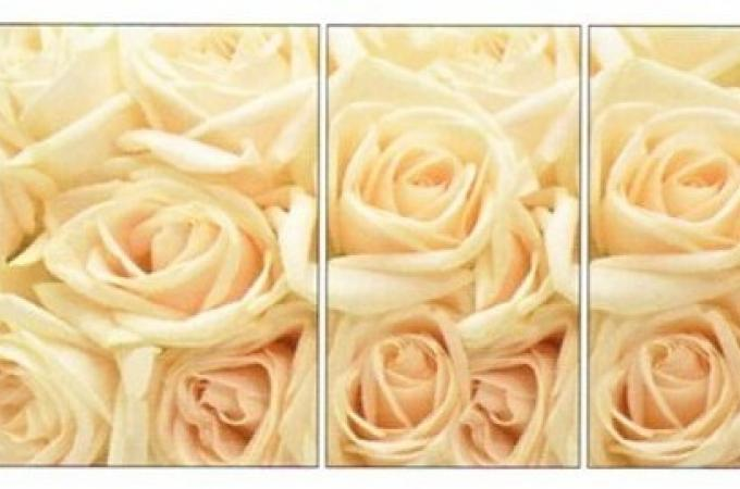 Рисунок для стола Асти фото R 161 розы беж