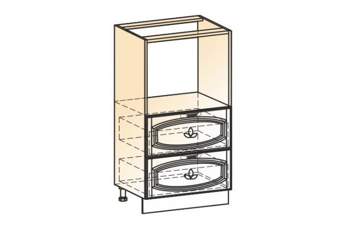 Венеция шкаф-пенал L600 (2ящ.)
