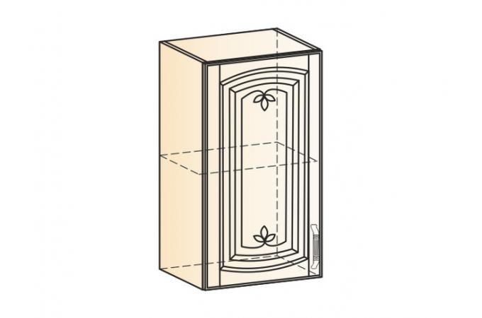 Венеция шкаф навесной L400 H720 (1 дверь глухая)