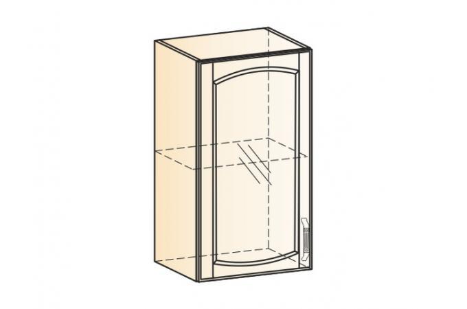 Венеция шкаф навесной L400 H720 (1 дверь рамочная)