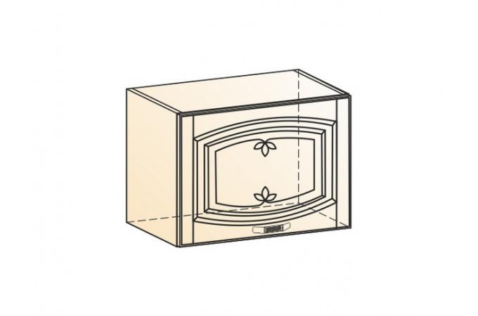 Венеция шкаф навесной L500 H360 (1 дверь глухая)