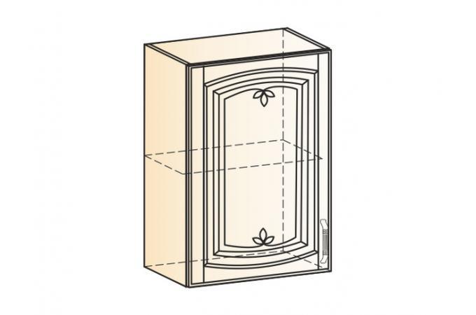 Венеция шкаф навесной L500 H720 (1 дверь глухая)