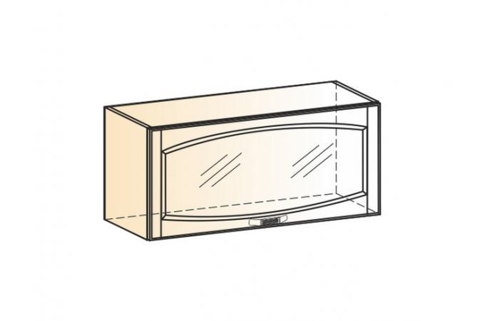 Венеция шкаф навесной L800 H360 (1 дверь рамочная)