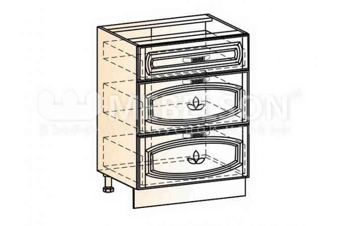 Венеция шкаф рабочий L600 (3 ящика)