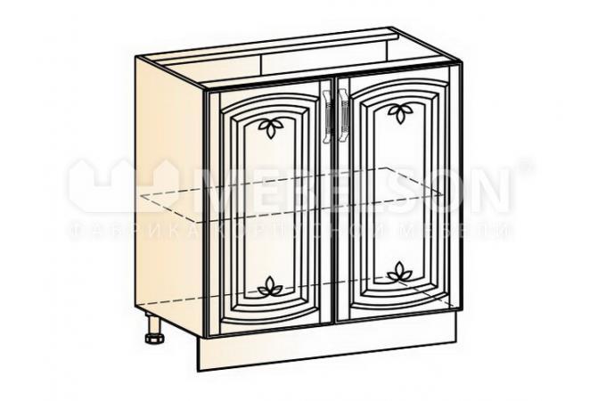 Венеция шкаф рабочий L800 (2 двери глухие)