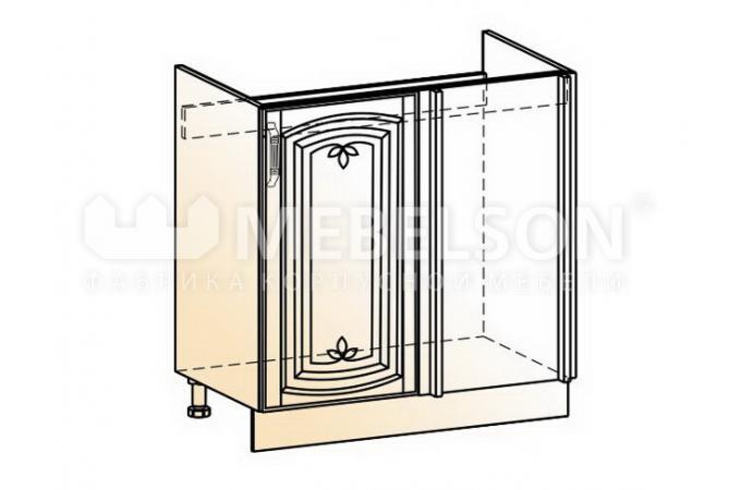 Венеция шкаф рабочий под мойку угловой L800 (1 дв. гл.)