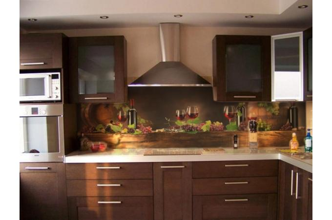 Кухонный фартук из ABS пластика Вино в интерьере 2