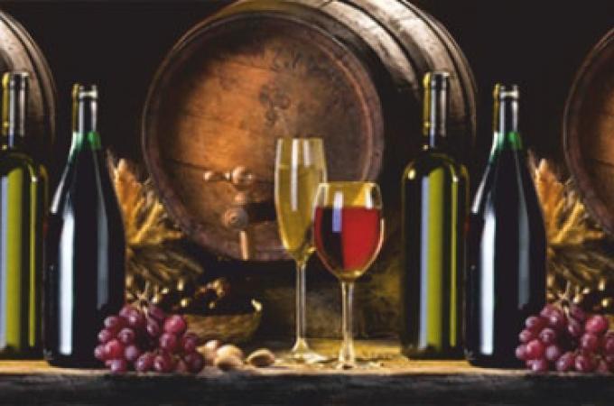 Кухонный фартук из ABS пластика Вино