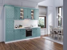Кухня в стиле прованс Кристина Вуд голубой фото
